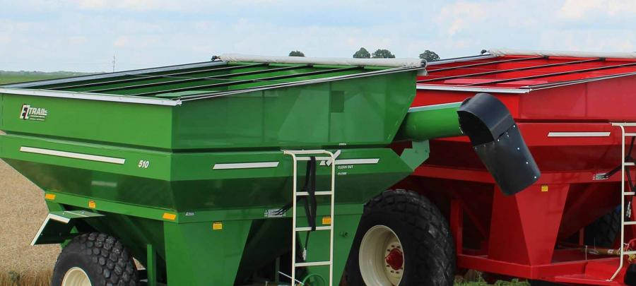 EZ Trail grain carts.