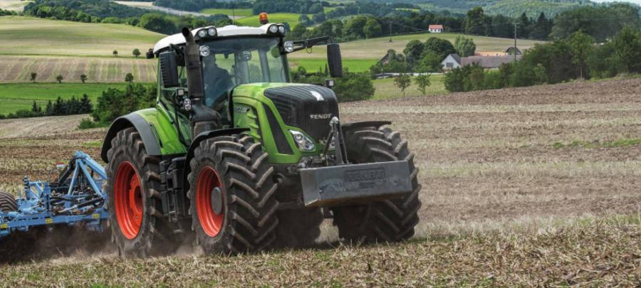 Fendt plowing in a field.